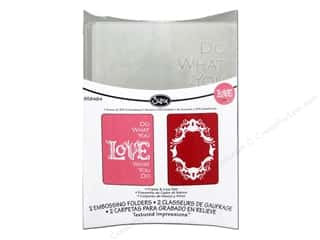Glitter Love & Romance: Sizzix Embossing Folders Rachael Bright Textured Impressions Frame & Love Set
