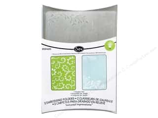 Sizzix Sizzix Embossing Folders: Sizzix Embossing Folders Rachael Bright Textured Impressions Garden Set