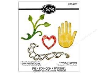 Heart To Hand: Sizzix Sizzlits Die Flourish Hand Heart & Vine by Rachael Bright