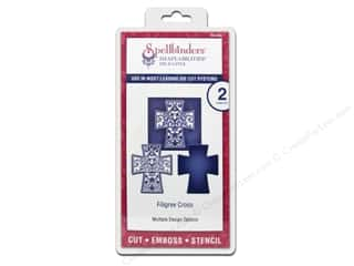 Religious Subjects Stencils: Spellbinders Die D Lites Filigree Cross Die