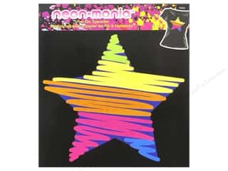 Irons Clearance: Plaid Iron On Neon Mania Squiggle Star
