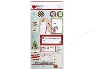 Martha Stewart Sticker Peppermint Winter Labels