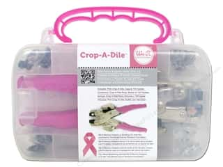 Grommet/Eyelet Grommet Attacher / Eyelet Attacher: We R Memory Crop-A-Dile Punch Kit & Pink Case