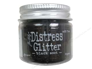Ranger Dry Glitter THoltz Distress 18gm Black Soot