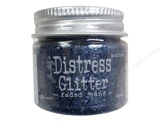 Tim Holtz Basic Components: Ranger Dry Glitter Tim Holtz Distress 18gm Faded Jeans
