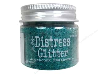 Ranger Clearance Crafts: Ranger Dry Glitter Tim Holtz Distress 18gm Peacock Feathers