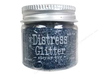 Scrapbooking & Paper Crafts Basic Components: Ranger Dry Glitter Tim Holtz Distress 18gm Stormy Sky