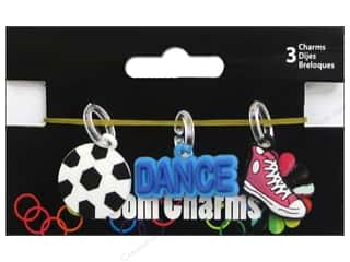 Midwest Design Imports Beading & Jewelry Making Supplies: Midwest Design Loom Band Charm Sport Assorted 3pc