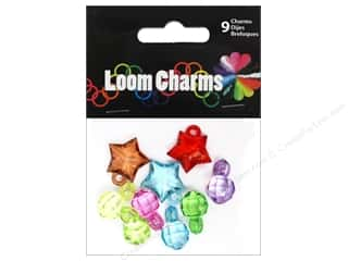 Midwest Design Loom Band Charm Acrylic Astd 9pc