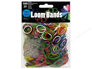Rubber / Elastic Bands Craft & Hobbies: Midwest Design Loom Band Value Pack Primary Assorted 525pc
