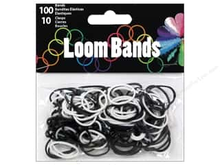 Rubber / Elastic Bands Crafts with Kids: Midwest Design Loom Band Assorted Black/White 110pc