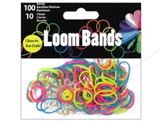 Rubber / Elastic Bands Crafts with Kids: Midwest Design Loom Band Glow In Dark Multiple 110pc
