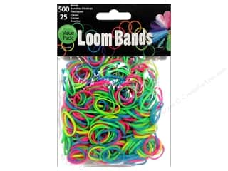 Rubber / Elastic Bands Crafts with Kids: Midwest Design Loom Band Assorted Glow In Dark 525 pc.