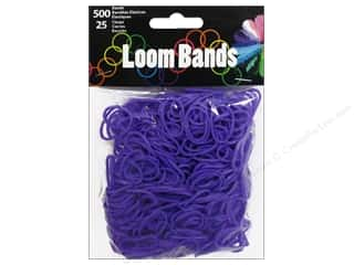 Rubber / Elastic Bands: Midwest Design Loom Band Purple 525 pc.