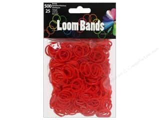 Rubber / Elastic Bands: Midwest Design Loom Band Red 525 pc.