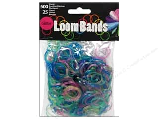 Midwest Design Loom Band Glitter Astd 525pc
