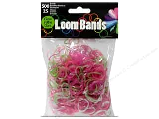 Midwest Design Loom Band Glow In Dark Astd 525pc