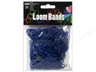 Midwest Design Loom Band Dark Blue 525pc