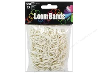 Bands: Midwest Design Loom Band White 525pc