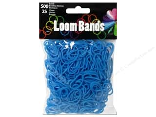 Rubber / Elastic Bands: Midwest Design Loom Band Blue 525pc