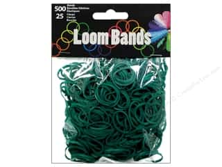 Midwest Design Loom Band Dark Green 525pc