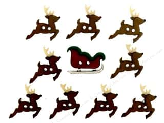 Jesse James Embellishments Sew Cute Sleigh & Reindeer