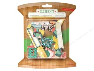Crate Paper Embel Close Knit Stitched Borders 10pc