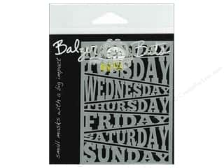 Stencils Stencil Masks: The Crafter's Workshop Template 3 x 4 in. Days Of Week