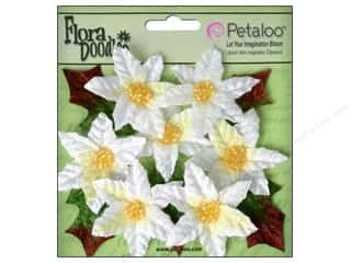 Petaloo FloraDoodles Mini Poinsettias White 7pc