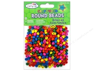 wood beads: Multicraft Krafty Kids Wood Bead Round 6mm Color 350pc