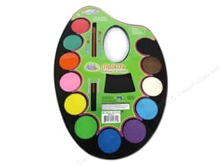 Paint Aids Paint Palettes: Multicraft Krafty Kids Watercolor Paint Palette 12 Color
