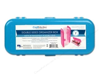 "Transportation Basic Components: Multicraft Organizer Box Double Sided 7.5""x 3""x 2.5"" Blue"