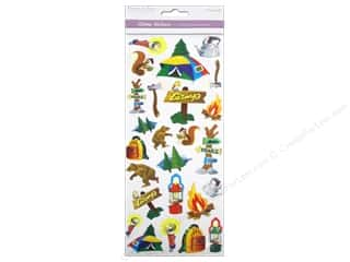 Scrapbooking & Paper Crafts Stickers: Multicraft Sticker Paper Craft Glitter Camping