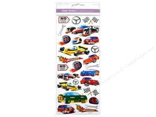 Transportation Stickers: Multicraft Sticker Paper Craft Glitter No Speed Limit