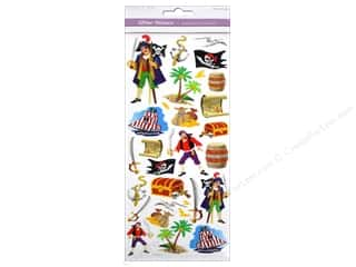 Finishes Scrapbooking & Paper Crafts: Multicraft Sticker Paper Craft Glitter A Pirate's Life
