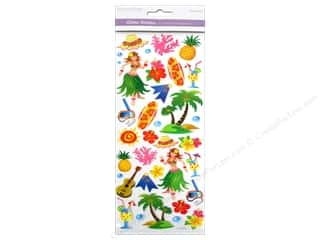 Scrapbooking & Paper Crafts Stickers: Multicraft Sticker Paper Craft Glitter Hawaiian Luau