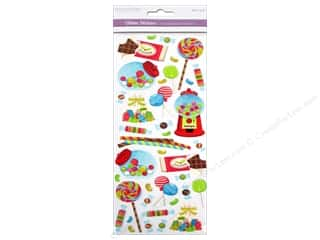 Scrapbooking & Paper Crafts Burgundy: Multicraft Sticker Paper Craft Glitter Sweet As Candy