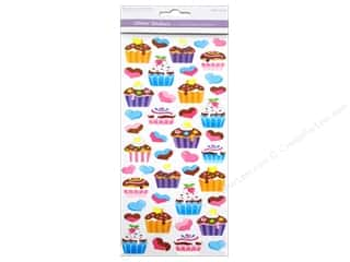 Scrapbooking & Paper Crafts Burgundy: Multicraft Sticker Paper Craft Glitter Cupcake Dreams