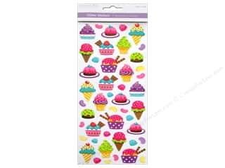 Food Scrapbooking & Paper Crafts: Multicraft Sticker Paper Craft Glitter Room For Dessert