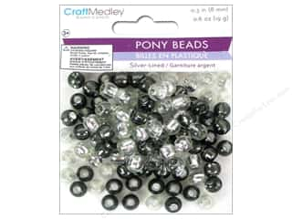 Multicraft Beads Pony 8mm 19gm Silver-Lined Classy