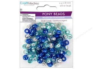 Multicraft Beads Pony 8mm 19gm Silver-Lined Cloud