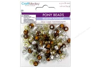 Multicraft Beads Pony 8mm 19gm Silver-Lined Caraml