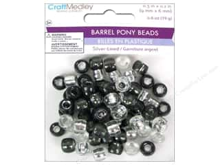 Multicraft Beads Pony 9x6mm 19gm Barrel Classy