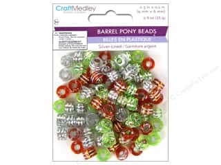 Multicraft Beads Pony 9x6mm 25gm Barrel Citrus