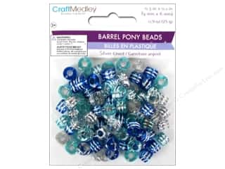 Multicraft Beads Pony 9x6mm 25gm Barrel Cloud