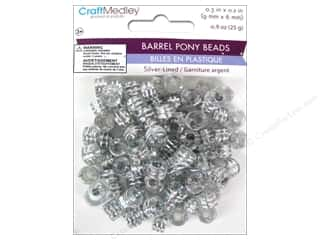 Jewelry Making Supplies Kid Crafts: Multicraft Beads Pony 9x6mm 25gm Barrel Crystal