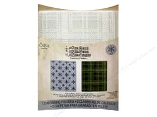 Tools Winter Wonderland: Sizzix Embossing Folders Tim Holtz Texture Fades Snowflake Pattern & Plaid