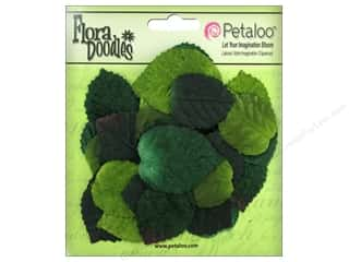 Decorative Floral Critters & Accessories Hot: Petaloo FloraDoodles Velvet Leaves 40pc