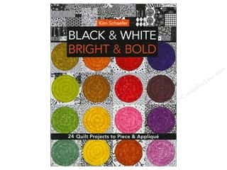 Books Black: C&T Publishing Black & White Bright & Bold Book by Kim Schaefer