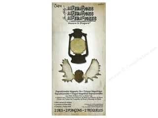 Magnets $2 - $4: Sizzix Movers & Shapers Magnetic Die Set 2PK Mini Lantern & Antlers by Tim Holtz